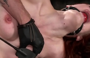 Blindfolded with metal gear redhead toyed