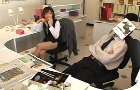 Japanese business son likes to handjob nearly place